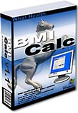 What Health BMI Calc software box